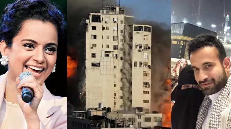 Irfan Pathan vs Kangana Ranautइजराइल और फिलिस्तीन जंग के बीच इरफान पठान और कंगना रनौत में जारी है सोशल मीडिया पर जुबानी जंग