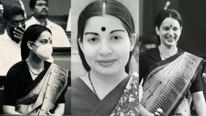 Kangana Ranaut ने फिल्म 'थलाइवी' का एक और शेड्यूल पूरा किया