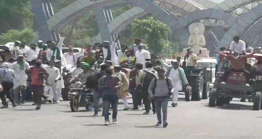 agricultural bill के खिलाफ यूपी में किसानों का प्रदर्शन, राजनीतिक दलों का समर्थन