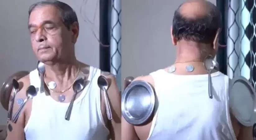 Corona Vaccine: बुजुर्ग ने किया दावा,कोरोना की दूसरी डोज लेने के बाद शरीर में बनी चुंबकीय शक्ति