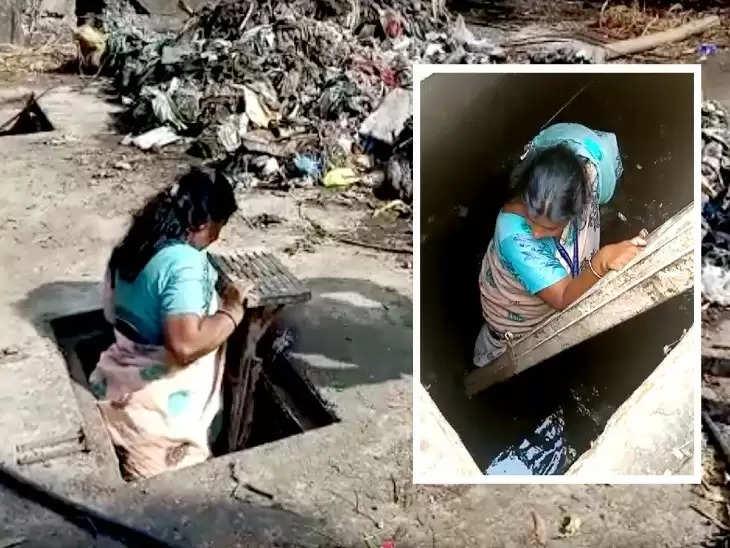 Rajasthan Sewage:मेनहोल में दिखी गंदगी तो खुद नीचे उत्तर गयी महिला अफसर