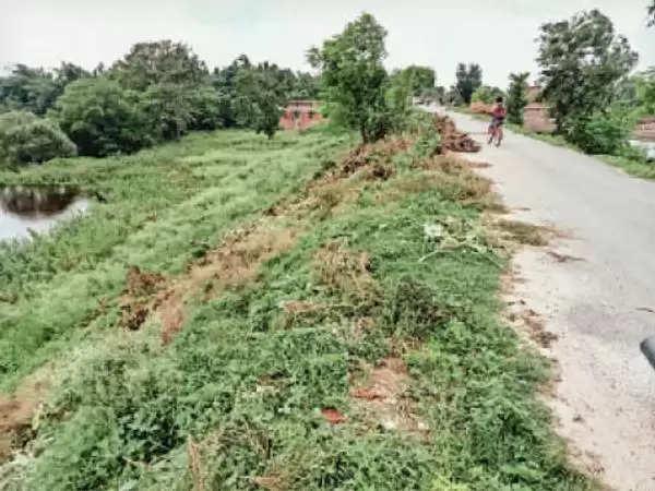 मधुबनी : लापरवाही:मानसून की दस्तक होते ही रेनकट पता लगाने के लिए दोनों तटबंध किनारे जंगल किया जा रहा साफ