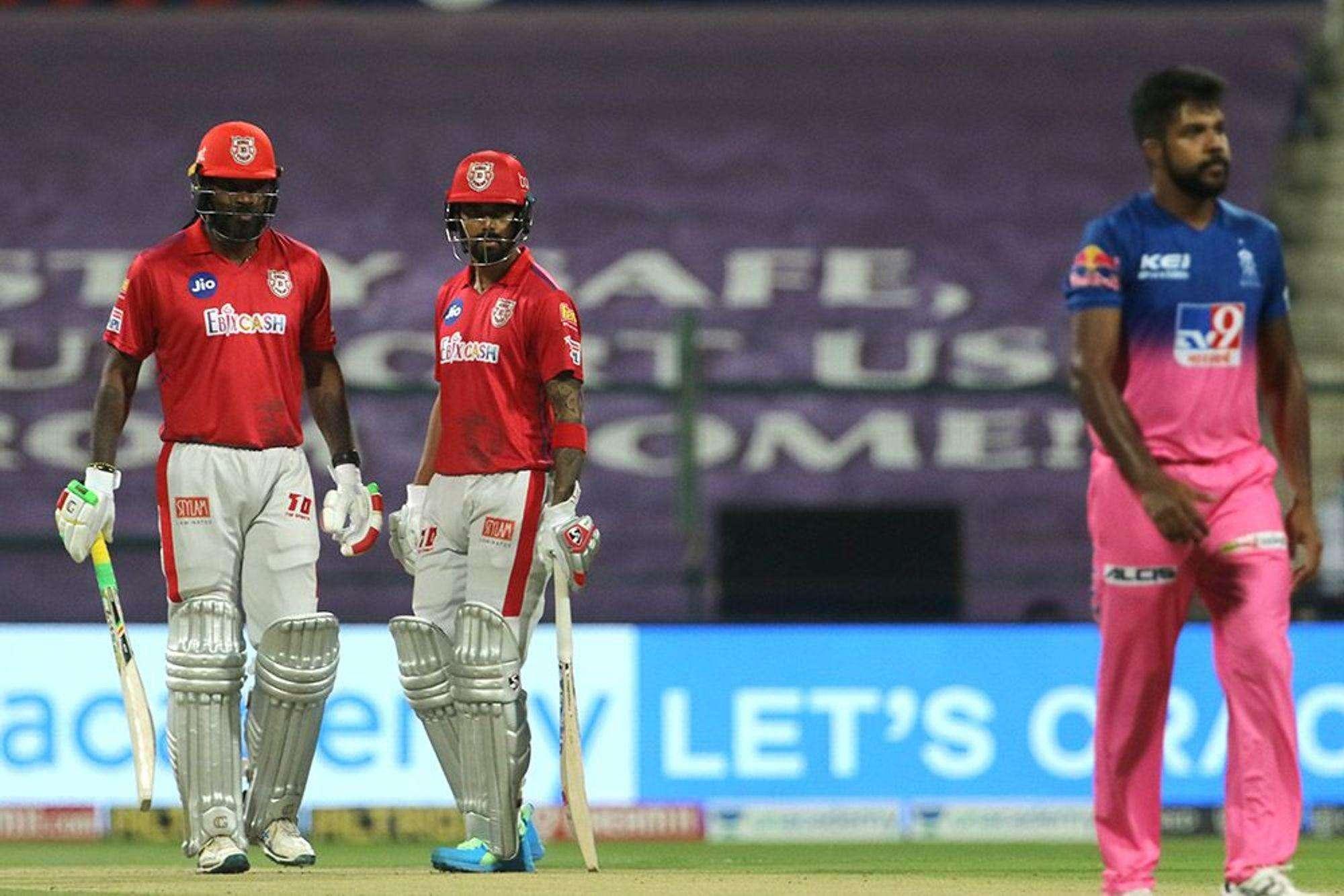 IPL 2020, KXIP VS RR: क्रिस गेल  ने खेली धमाकेदार पारी, पंजाब ने राजस्थान को दिया 186 का लक्ष्य