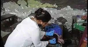Faridabadछज्जा गिरने से शिक्षिका समेत चार छात्र घायल