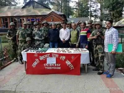 Kashmir में हथियार, गोला-बारूद का जखीरा बरामद