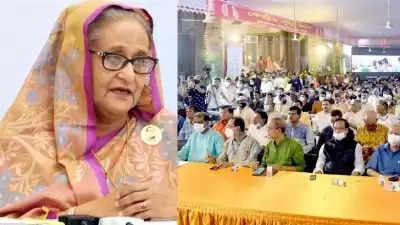 Sheikh Hasina ने हिंदू समुदाय से कहा, खुद को अल्पसंख्यक न समझें