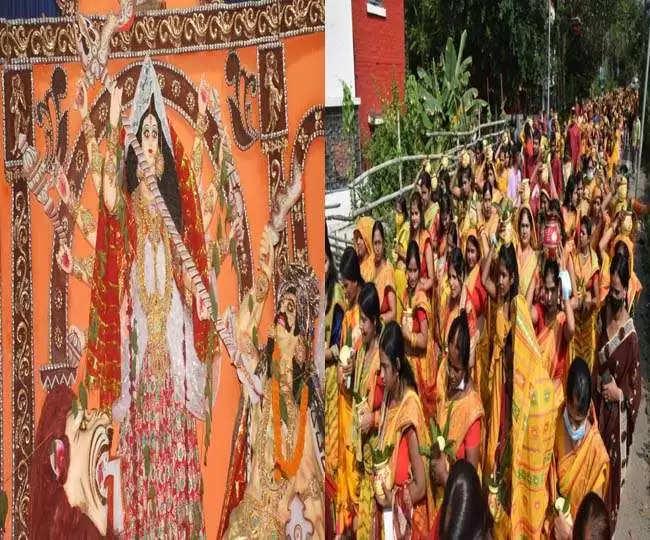 Dhanbad Durga Ashtami 2021 महागाैरी की भक्ति में कोयलांचल लीन, पूजा पंडाल में भक्तों की लगी भीड़